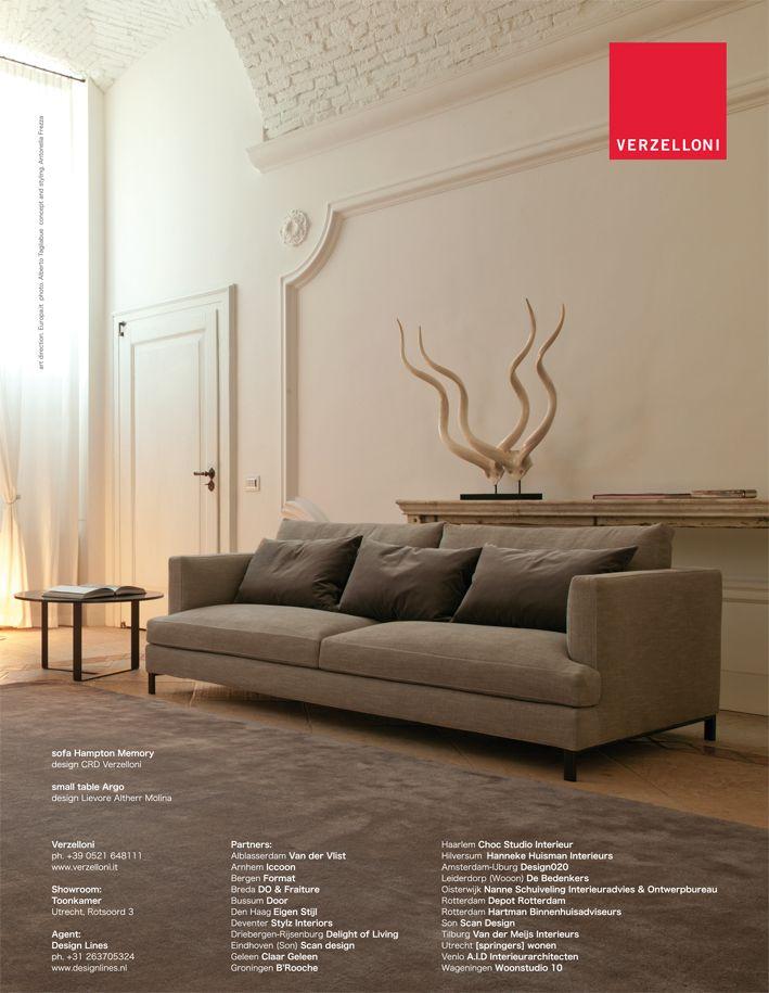 Hampton. Verzelloni on Eigen Huis, Elle Decor Italia, Elle Decoration, Ideal Heim, Marie Claire Maison, Ville e Giardini.