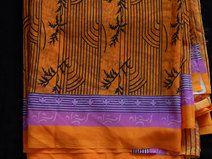 Dell annata Sari, Sari tessuto, chiffona tessuto