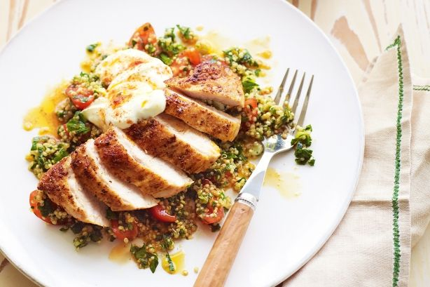 Quinoa is a delicious gluten-free substitute for burghul wheat that is traditionally used in tabouleh. Learn how to use it in this delicious quinoa chicken salad recipe.
