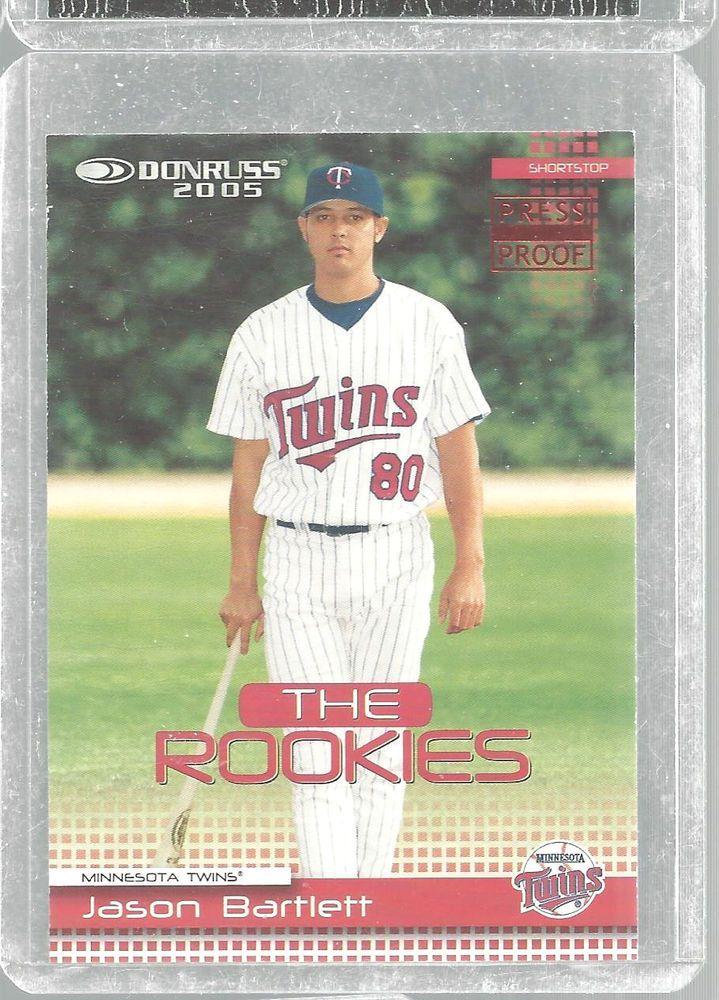 Jason Bartlett Rookie 50 Donruss Press Proof 92/200 '05 Baseball Card Minn Twin  #Donruss #MinnesotaTwins