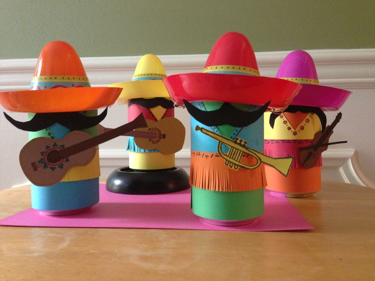 Coke can mariachi band i made for a fiesta themed party for Mexican christmas ornaments crafts