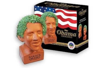 No better way to show support of your president then getting the Obama chia pet.