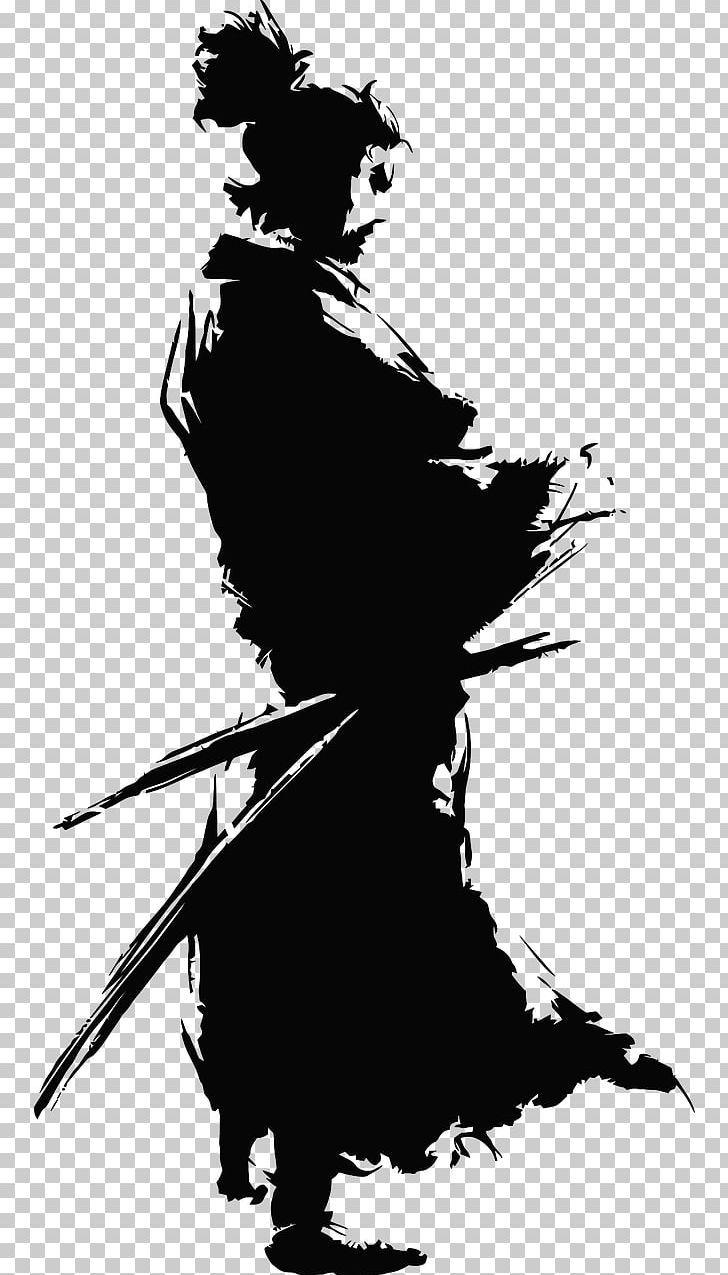 Musashi Samurai Book Kenjutsu Sword Png Art Black Black And White Book Bushido Samurai Art Samurai Artwork Samurai