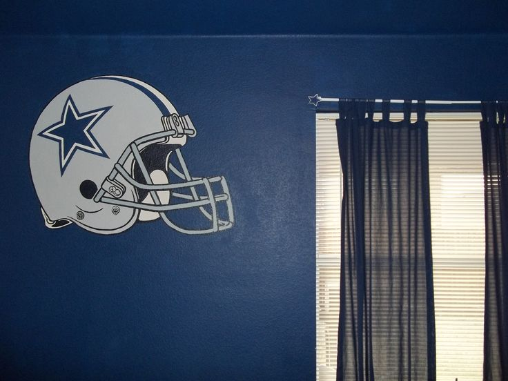 Another View Of Dallas Cowboys Helmet Wall Painting