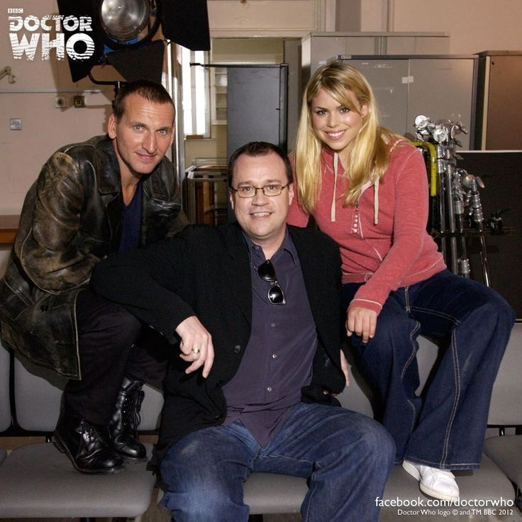 The Ninth Doctor Christopher Eccleston, Head Writer for Seasons 1-4 Russell T Davies, and Rose Tyler Billie Piper