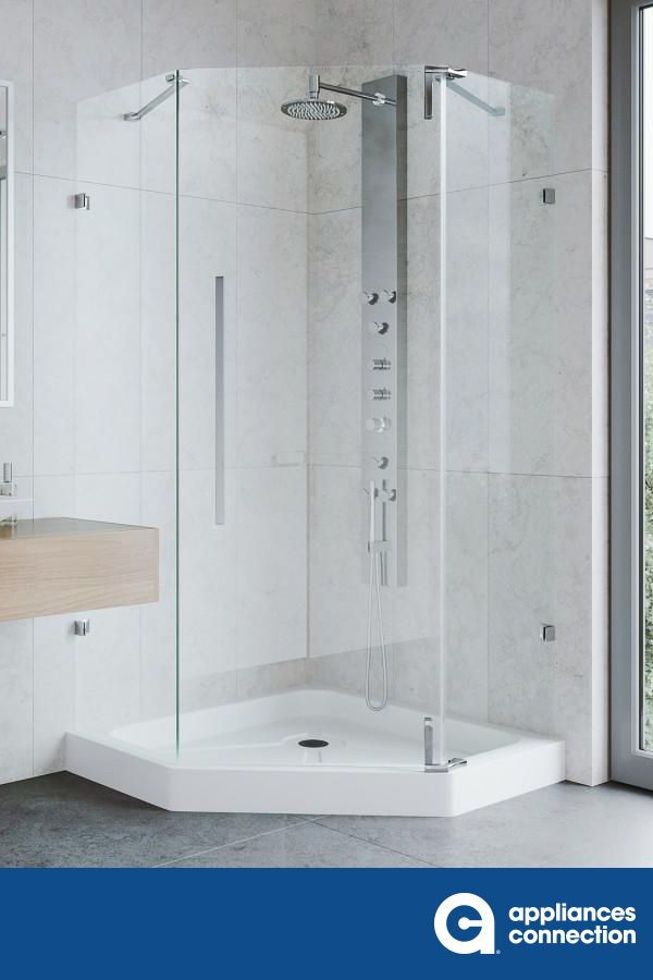 The Space Saving Convenience Of A Neo Angle Shower Combines With