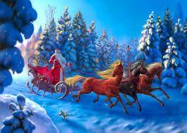Картинки по запросу дед мороз на санях