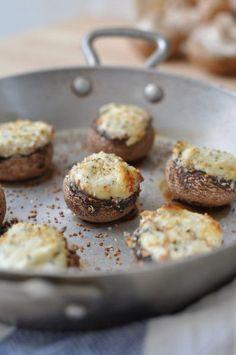 Petits champignons farçis pour l'apéritif … trop facile !