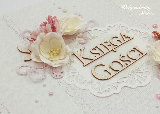 Ślub - księgi gości, albumy-Kwiatowa księga gości
