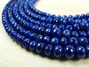 AA Lapis Lazuli Micro-Faceted Rondelles 3-7mm ~ 8'' Str