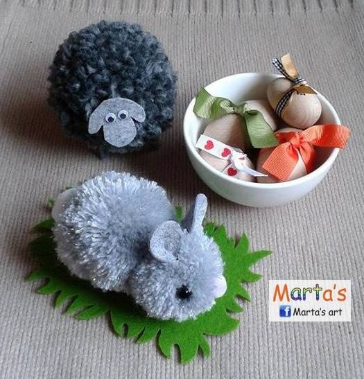 Easter bunny and a sheep