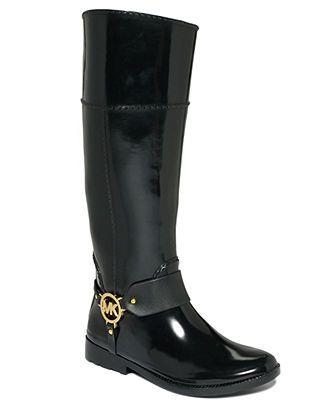 MICHAEL Michael Kors Shoes, Fulton Harness Rain Boots - Shop All - Shoes - Macy's