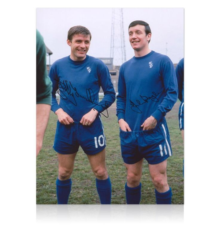 Bobby Tambling & John Boyle signed Chelsea photo