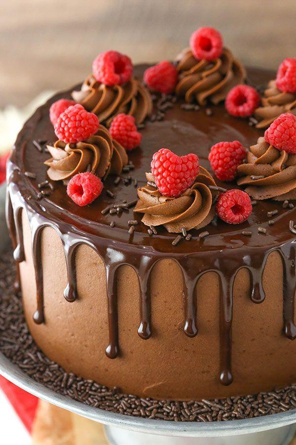 Raspberry Chocolate Layer Cake Chocolate Cake Ganache Recipe Chocolate Ganache Cake Chocolate Layer Cake Chocolate Raspberry Cake