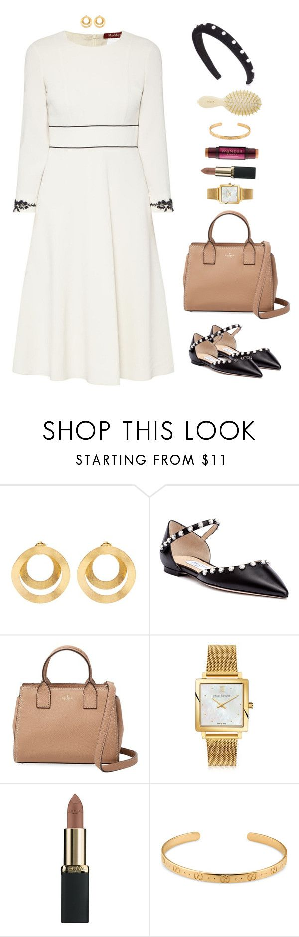 """""""Allure"""" by xoxomuty on Polyvore featuring Anissa Kermiche, Jimmy Choo, Kate Spade, Larsson & Jennings, L'Oréal Paris, Gucci, Altuzarra, ootd and polyvoreOOTD"""