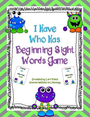I Have Who Has Easy Sight Words FREEBIE!