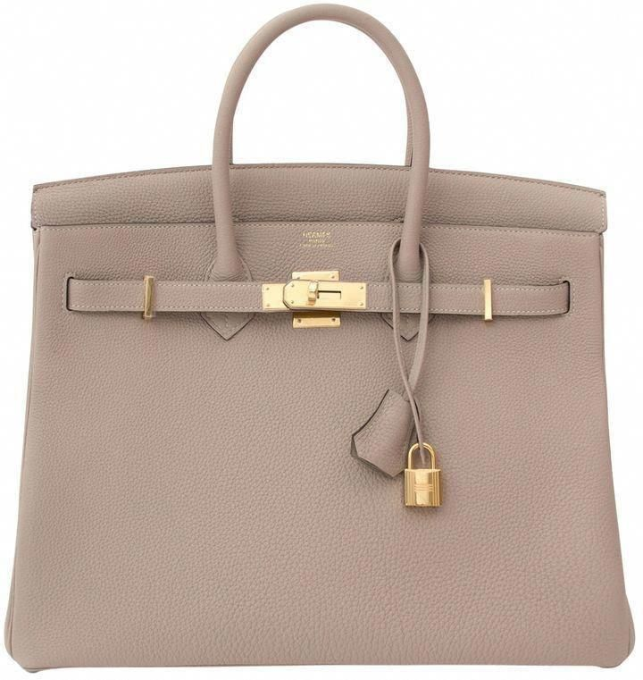 Hermes Birkin Leather Handbag In Grey Hermeshandbags Ladiesleatherhandbags Hermes Handbags Hermes Birkin Hermes Birkin Leather