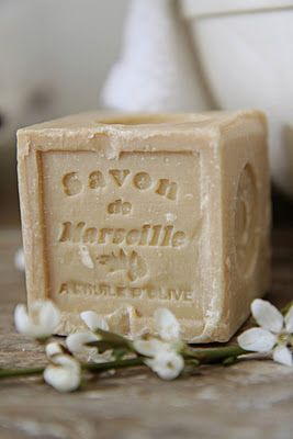 Savon de Marseille (the most excellent olive oil soap!) Don't be fooled by imitations. This is true Savon de Marseille, hand-crafted in Marseille, France by true artisans, using the same pure ingredients and centuries-old techniques that have made French soaps famous throughout the world. ( i did the tour when we were there) http://savondemarseille.com/