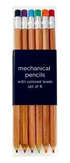 mechanical pencils - they look like regular pencils.: Mechanical Color, Color Leaded, Traditional Woods, Mechanical Pencils, Woods Pencil, Color Mechanical, Color Pencil, Assort Color, Offices Supplies