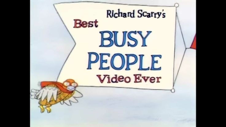 Richard scarry 39 s best busy people video ever richard for Best house music ever