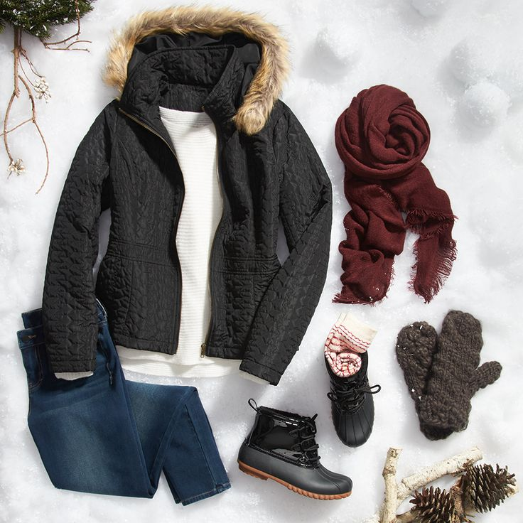Planning a snowy weekend getaway? Ask your Stylist for pieces for cold weather activities!