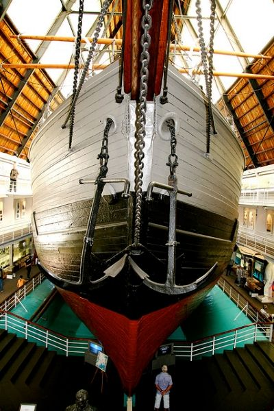 Gigantic ship at the Fram Museum