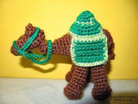 Camello Amigurumi - Patrón Gratis en Español al final del post aquí: http://ainoslabores.blogspot.de/2013/12/nacimiento.html