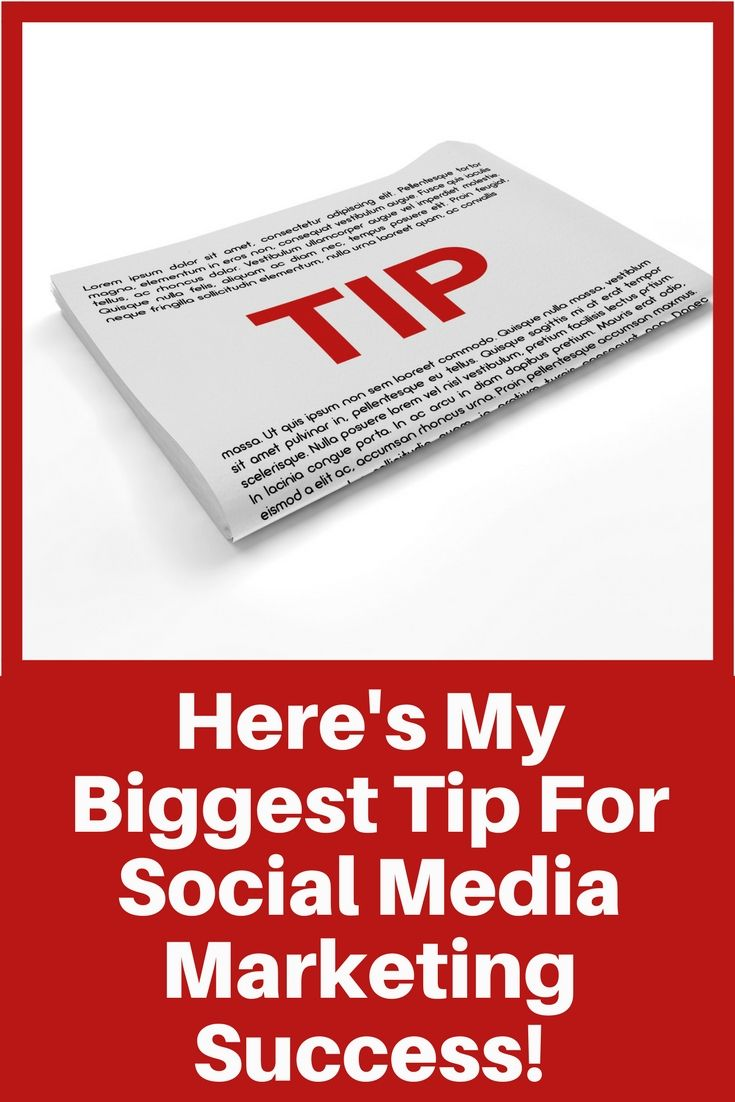 Here's my biggest tip for long term social media marketing success. | social media marketing | social media | http://simplysocialyou.com/blog/social-media-marketing-success/