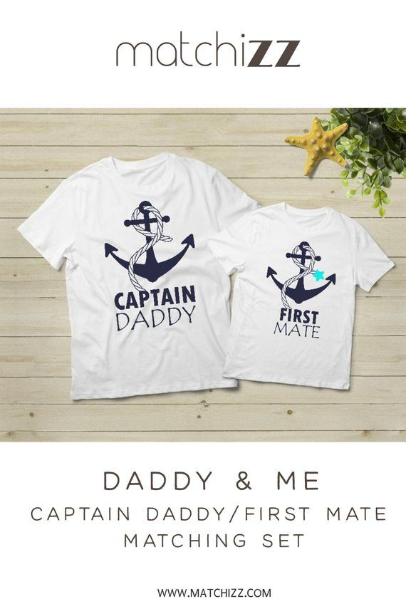 63bf8d32 Father son matching shirts captain daddy first mate dad gift for Fathers day #fathersday #fatherson #captaindaddy#matchingshirts #daddyandme