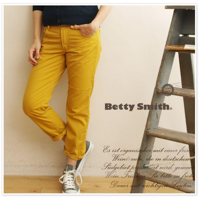 【Betty Smith ベティスミス】カラー テーパード パンツ (bab1102a)