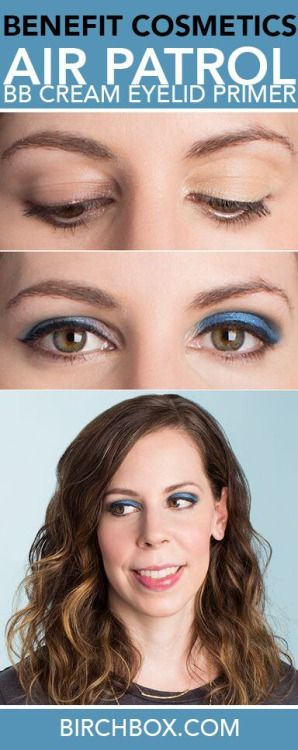Benefit BB cream eyelid primer. I like the left eyeshadow look in the middle photo