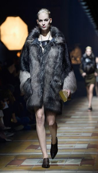 Françoise Hardy would approve of this Lanvin faux fur coat. #aw2014 #frenchstyle #lanvin