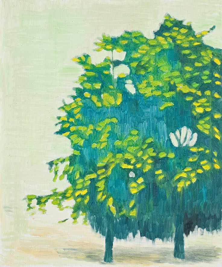 Sanghoon Oh, 봄 나무 Tree in spring, Oil on canvas, 73x61cm, 2009