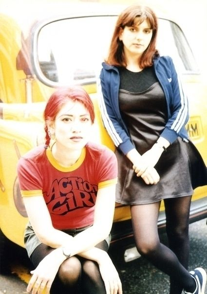 Miki Berenyi and Emma from the band Lush. I was obsessed with Miki!