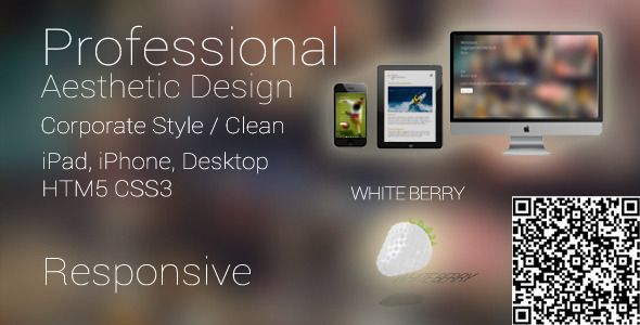 White Berry Responsive Business Mobile Template - ThemeForest Item for Sale