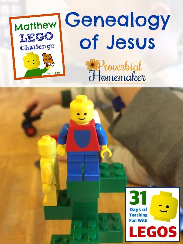 Day 1 of the Matthew Lego Challenge is the genealogy of Christ!