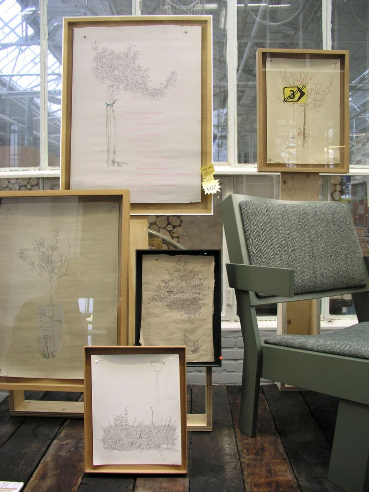 furniture, drawings     TOM FRENCKEN    group expo at PIET HEIN EEK during DUTCH DESIGN WEEK 2012 together with JOPSPROPS