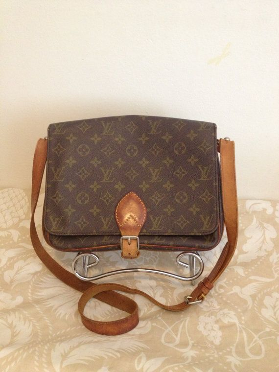 LOUIS VUITTON Vintage 80s Cartouchiere GM Crossbody by TarasFinds ... f4a6958f56b81
