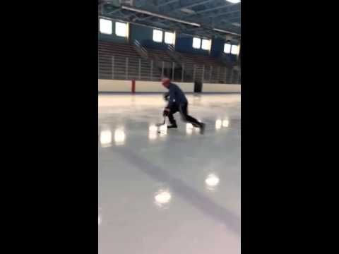 Defensive End JJ Watt of the Houston Texans shows off his skills on the ice. 6'5 - 290lbs....just a little guy #GONGSHOW