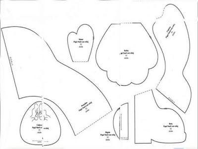 Dibujos de santa claus para imprimir ~ cositasconmesh