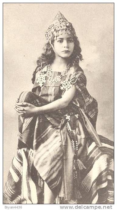 Photographe J. GEISER – Alger -Superbe Portrait d´une Fillette Kabyle – Ethnique -0rientalisme -n° 619 – PARFAIT (Item number: #175947719)