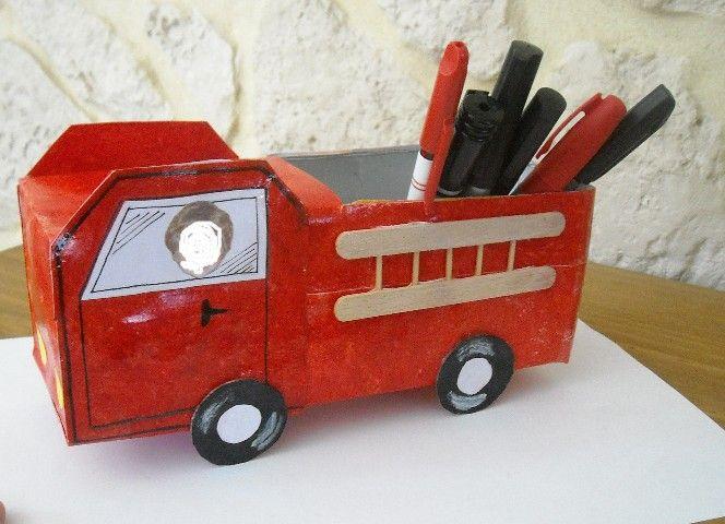 camion de pompier fete des papa page 1 bricolage activit s manuelles assistante. Black Bedroom Furniture Sets. Home Design Ideas