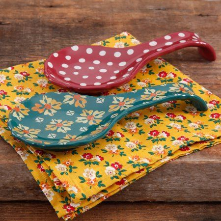 The Pioneer Woman Autumn Harvest 2-Piece Spoon Rest Set