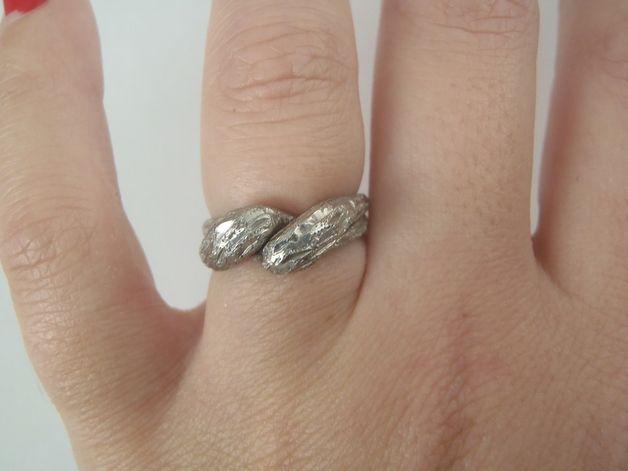 Anelli - anello in argento 800 vintage anni 90 intrecciato - un prodotto unico di LaSoffittaDiSte su DaWanda