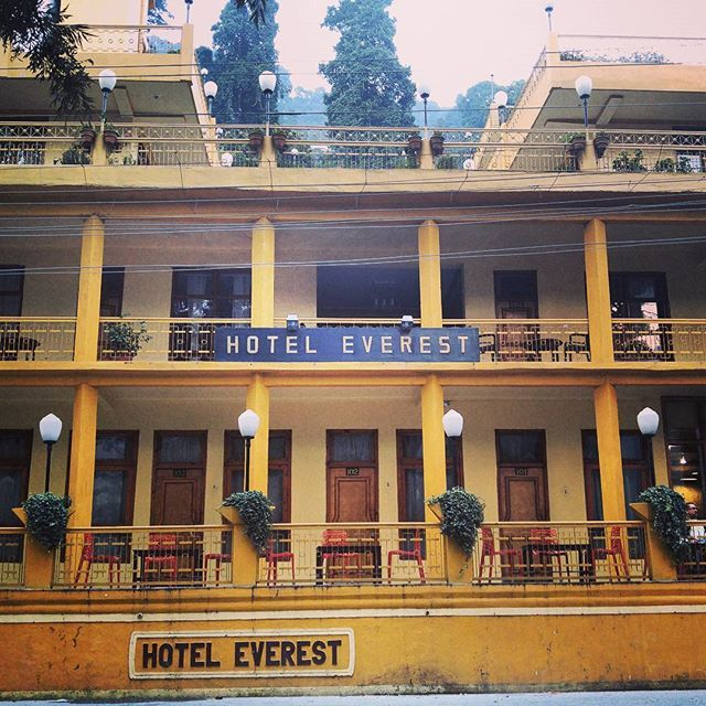 The stately Hotel Everest on Mall Road across from Nainital Lake looks like the setting for a #WesAnderson film. #travel #Nainital #Uttarakhand #India #hotel #cinematography #fancy #toorichformyblood