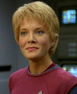 Jennifer Lien as Kes on Star Trek Voyager