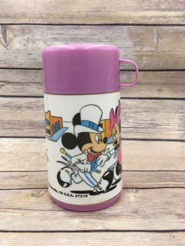 Vintage Aladdin Thermos Mickey & Minnie Mouse Disney Pink Flapper Dapper