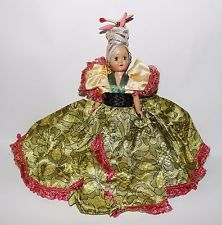 """Vintage Gypsy Princess Doll  7"""" by Duchess Doll Corp. 1948-1949 Original Outfit"""