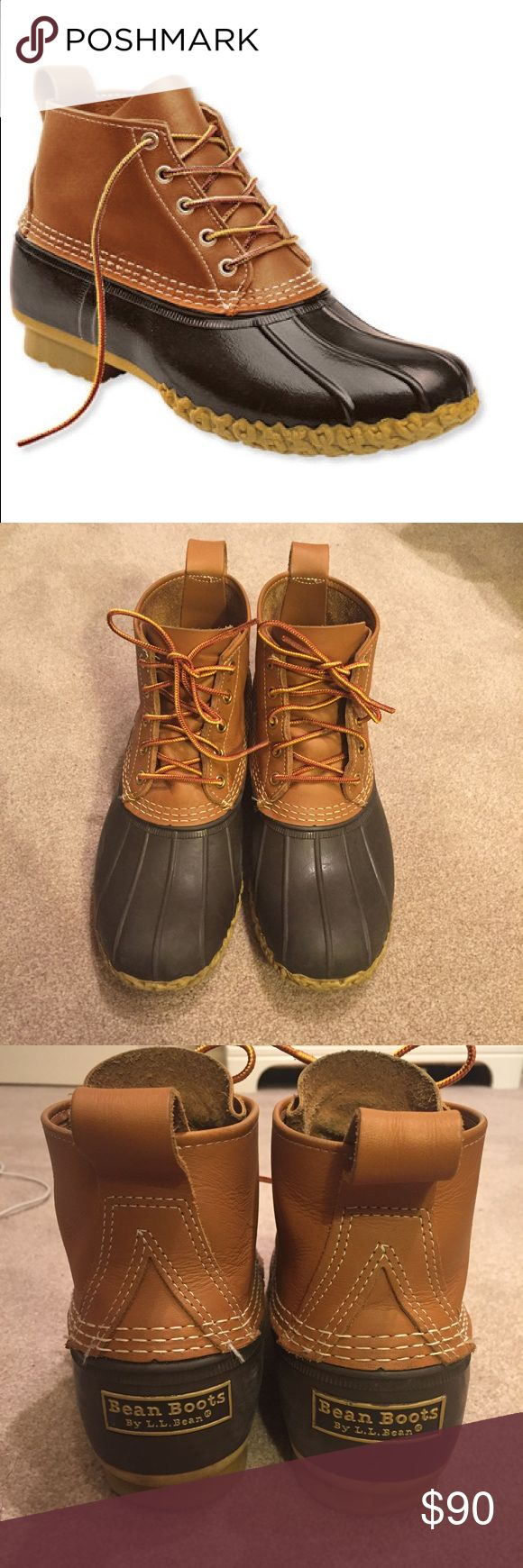 """Men's 6"""" L.L. Bean boots Great condition classic ll bean boots. Tan/brown color. Worn a few times. Size marking on inside has worn off, but they are a men's 9. I can provide measurements or more pics upon request L.L. Bean Shoes Rain & Snow Boots"""