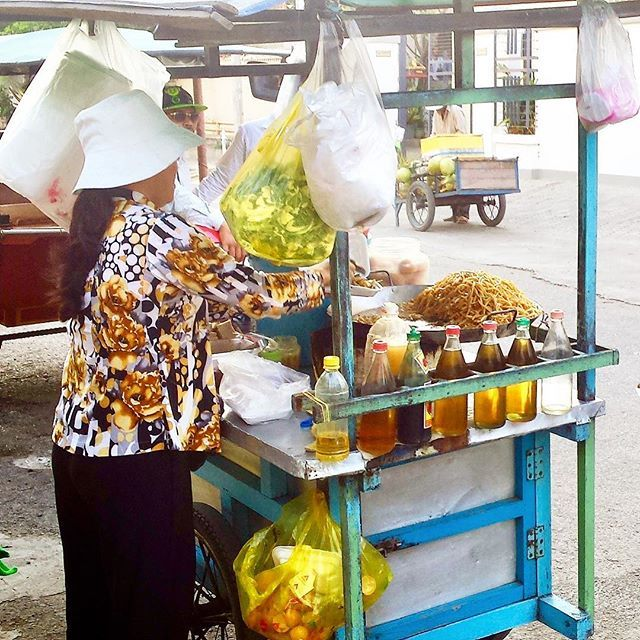 One of the best meals we had in Phnom Penh was from this cart. She was surrounded by locals who clearly knew they were on to a good thing. The noodles and egg dish was fresh and delicious. We love street food - have you tried it?